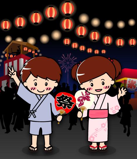2015年版!盆踊り・夏祭り・秋祭り無料イラスト画像集