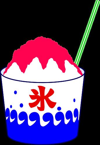 かき氷イチゴ