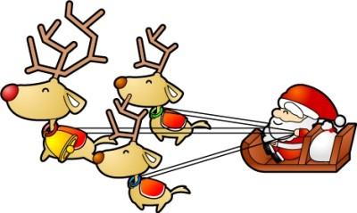 素材のプチッチ サンタとトナカイ