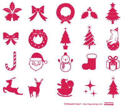 シルエットデザイン クリスマス素材詰め合わせ