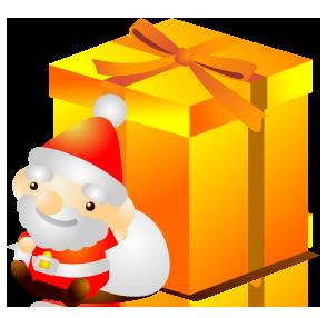 季節の素材、クリスマス、サンタクロース&トナカイ等